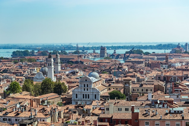 Vista aérea da cidade de veneza. turismo na itália.