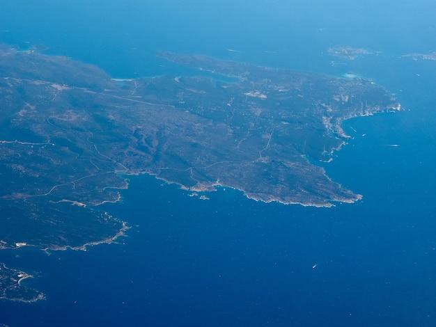 Vista aérea da córsega
