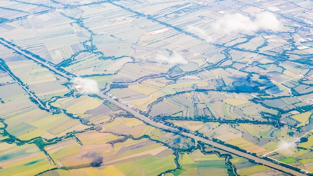 Vista aérea da fazenda