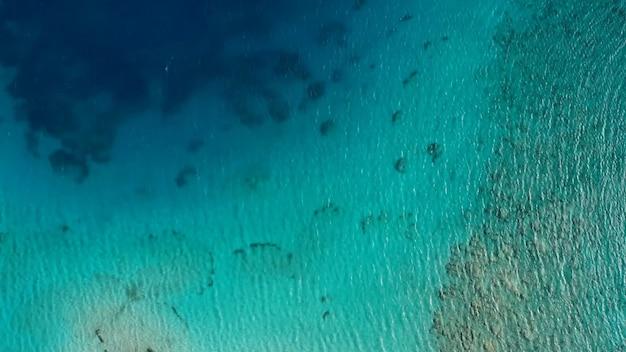 Vista aérea da foto do estoque do oceano