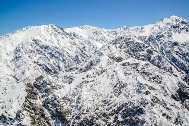 Vista aérea da paisagem da cordilheira da montanha