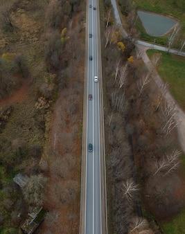 Vista aérea da paisagem de outono em siguldalatvia
