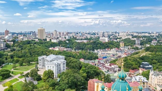 Vista aérea da paisagem urbana de kiev