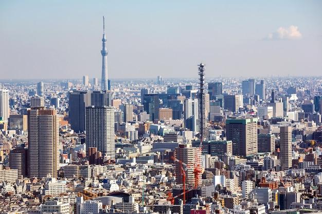 Vista aérea da paisagem urbana de tóquio