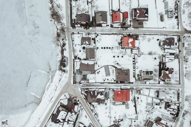 Vista aérea da vila
