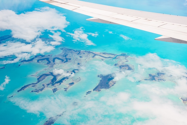 Vista aérea das bahamas