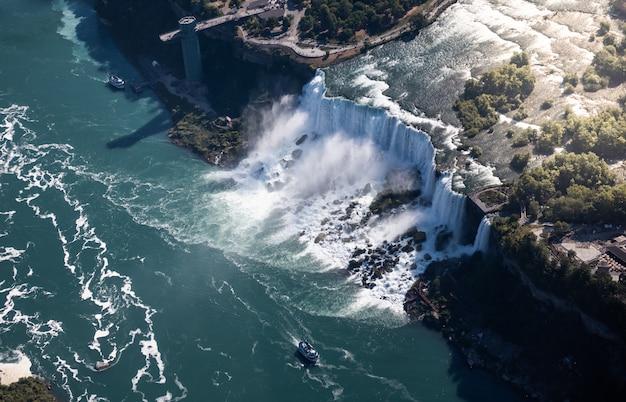 Vista aérea das cataratas do niágara, canadá