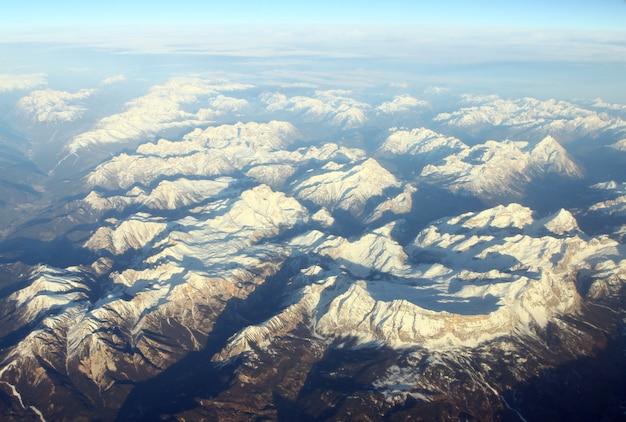 Vista aérea das montanhas