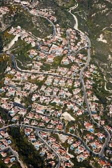 Vista aérea de área residencial