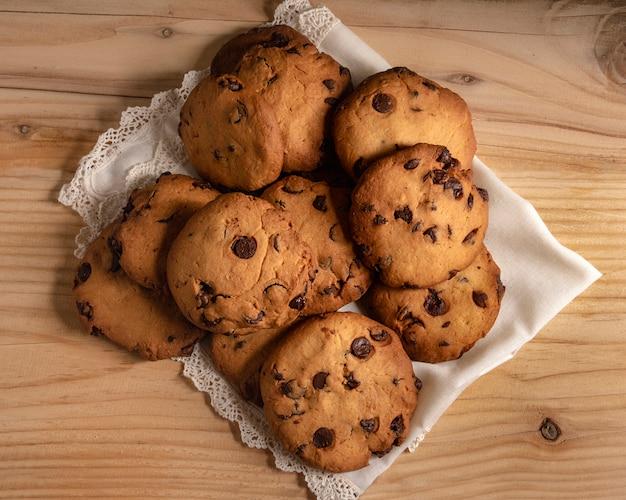 Vista aérea de biscoitos