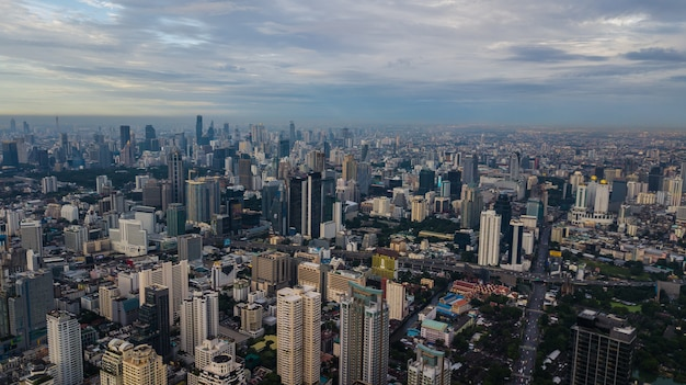 Vista aérea, de, cidade
