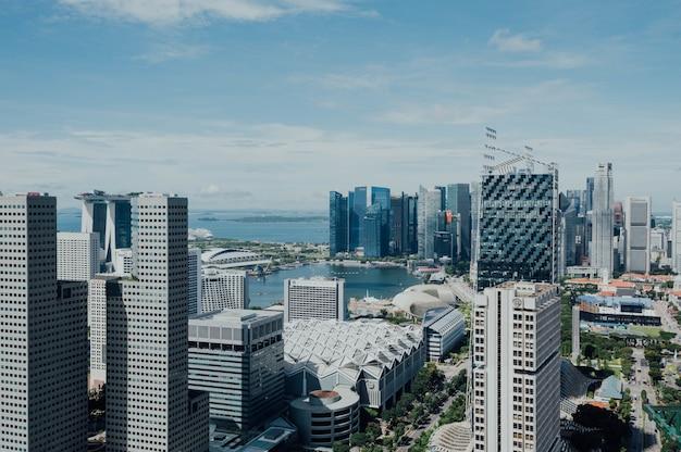 Vista aérea, de, cityspace