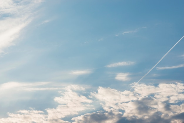 Vista aérea, de, cloudscape