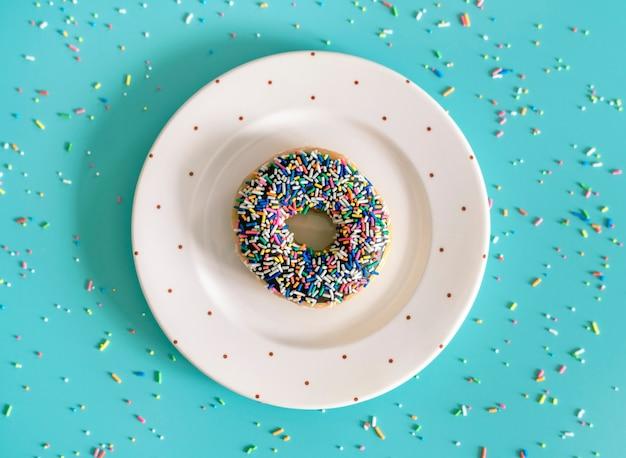 Vista aérea, de, donut