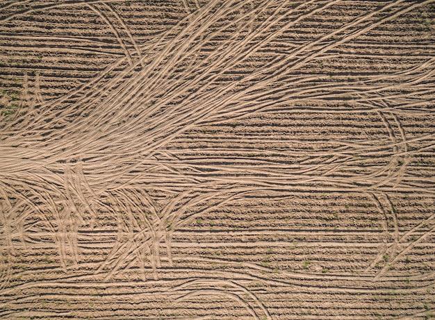 Vista aérea, de, drone, paisagem agricultural, abstratos, textura, e, natureza, fundo