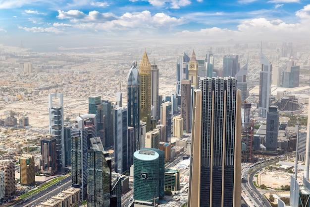 Vista aérea de dubai, emirados árabes unidos