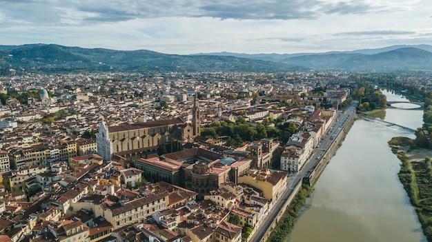 Vista aérea de florença, itália, europa