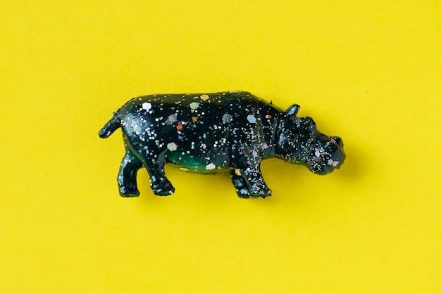 Vista aérea, de, hipopótamo, com, efeitos