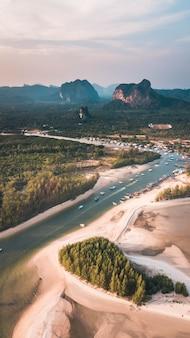 Vista aérea de krabi, tailândia.