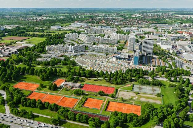 Vista aérea de munique, alemanha