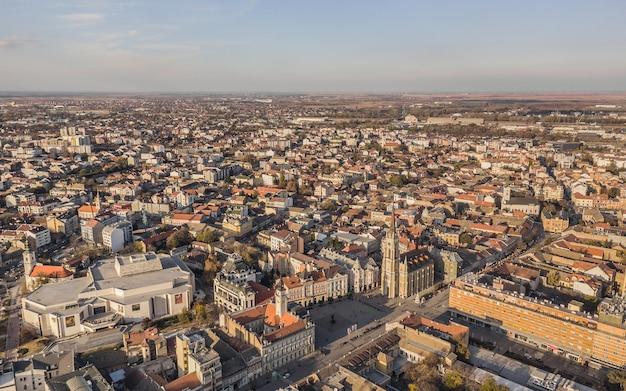 Vista aérea de novi sad na sérvia