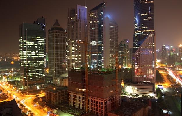 Vista aérea, de, shanghai
