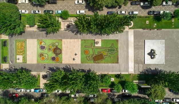 Vista aérea de um parque