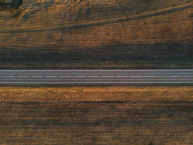 Vista aérea, de, um, verão, estrada