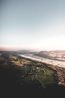 Vista aérea de uma cidade