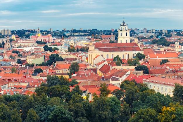 Vista aérea de vilnius, lituânia, estados bálticos