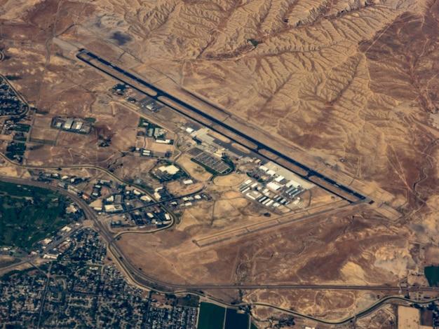 Vista aérea do aeroporto de grand junction