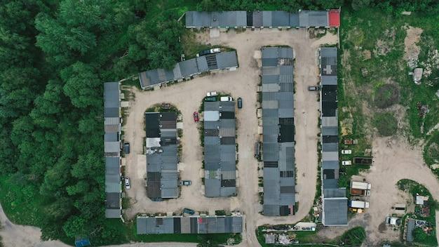 Vista aérea do canteiro de obras