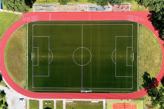 Vista aérea do estádio de futebol