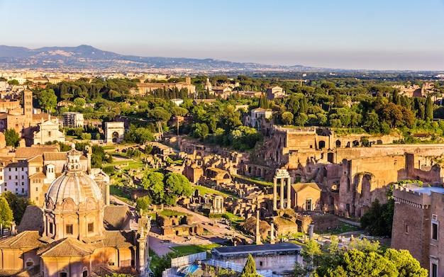 Vista aérea do fórum romano