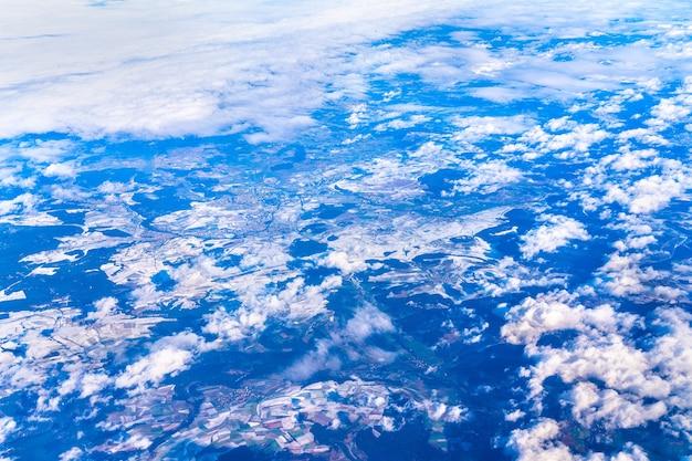 Vista aérea do jura da suábia no inverno