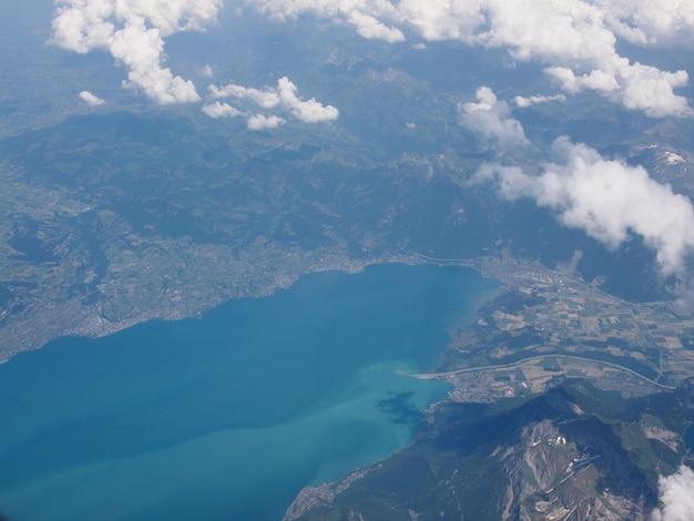 Vista aérea do lago bodensee