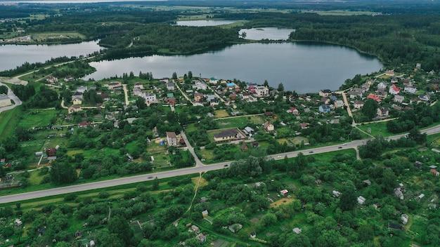 Vista aérea do lago