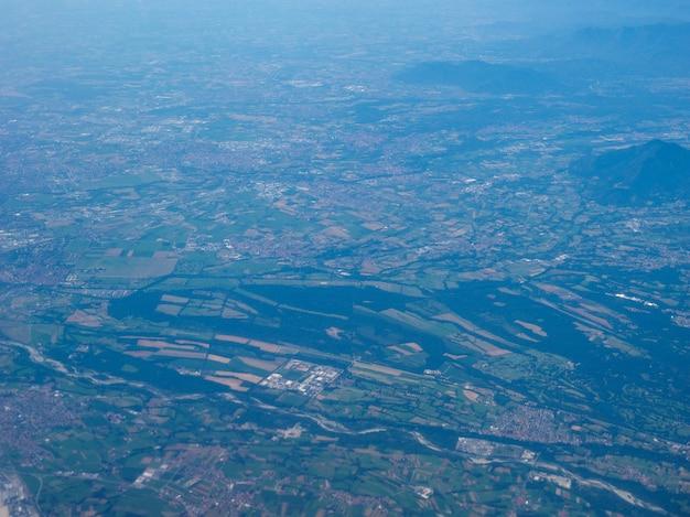 Vista aérea do piemonte