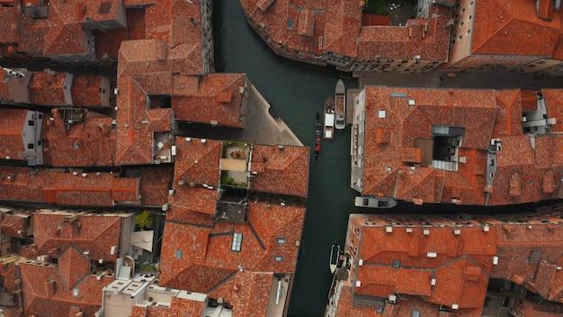 Vista aérea dos canais de veneza