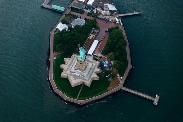 Vista aérea drone da cidade de nova york