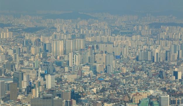 Vista aérea e top no centro da cidade