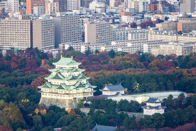 Vista aérea, nagoya, castelo
