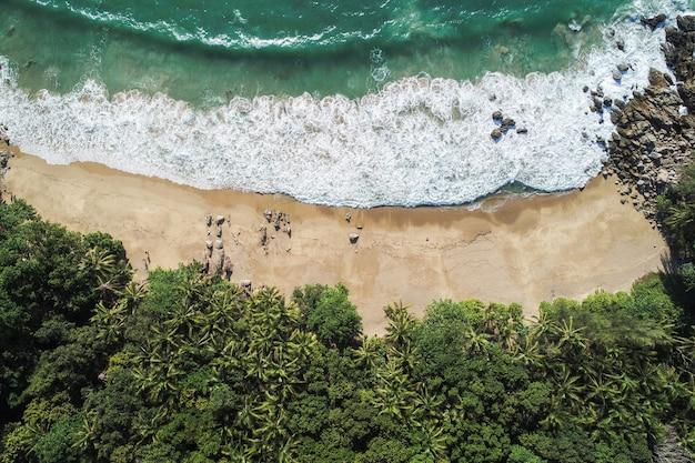 Vista aérea, praia, de, tailandia