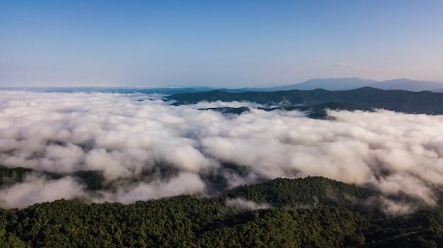 Vista alta ângulo, de, paisagem, montanha, em, nan, província, tailandia