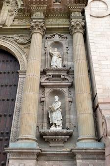 Vista baixa ângulo, de, catedral lima, prefeito praça, histórico, centro, de, lima, lima, peru