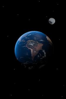Vista da américa do sul no planeta terra papel de parede