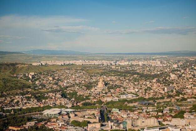 Vista da antiga tbilisi, geórgia