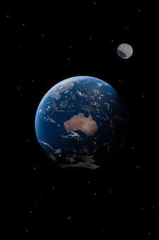 Vista da austrália no planeta terra papel de parede