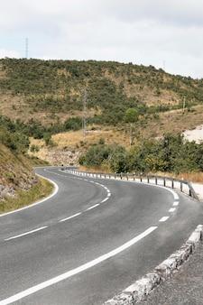 Vista da aventura da viagem na estrada