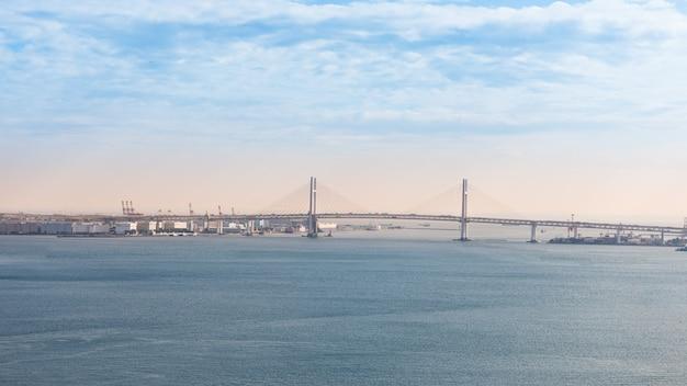 Vista da baía de yokohama